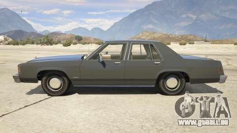 GTA 5 1987 Ford LTD Crown Victoria vue latérale gauche