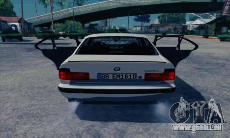 BMW M5 E34 für GTA San Andreas zurück linke Ansicht
