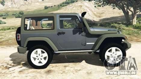 GTA 5 Jeep Wrangler 2012 v1.1 linke Seitenansicht