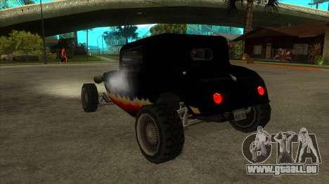 Diablos Hotknife pour GTA San Andreas sur la vue arrière gauche
