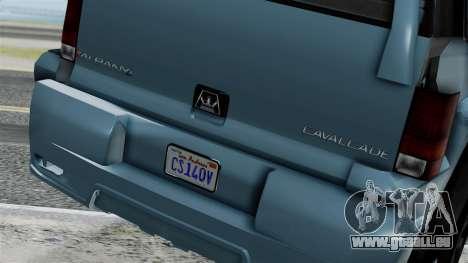 GTA 5 Albany Cavalcade v1 IVF pour GTA San Andreas sur la vue arrière gauche