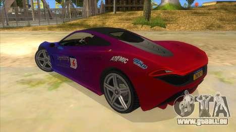 GTA 5 Progen T20 Lights version pour GTA San Andreas vue de dessous