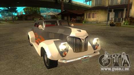 GTA LCS Thunder-Rodd pour GTA San Andreas vue arrière