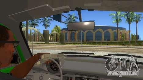 Volkswagen Beetle Pizza pour GTA San Andreas vue intérieure