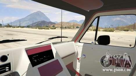 GTA 5 GMC Vandura (A-Team Van) arrière droit vue de côté