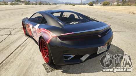 GTA 5 Touhou Project Remilia Jester arrière vue latérale gauche