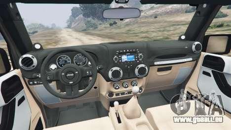 GTA 5 Jeep Wrangler 2012 v1.1 hinten rechts