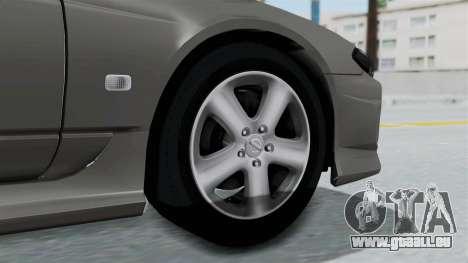 Nissan Silvia S15 Spec-R 2000 pour GTA San Andreas sur la vue arrière gauche
