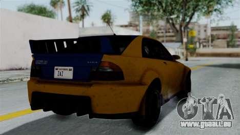 GTA 5 Karin Sultan RS Rally PJ für GTA San Andreas linke Ansicht