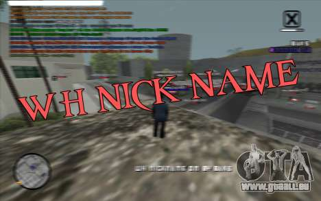 WH Nick Name pour GTA San Andreas
