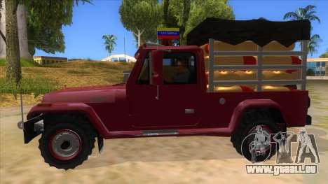 Jeep Pick Up Stylo Colombia pour GTA San Andreas laissé vue