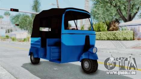 Sri Lanka Three Wheeler (Rickshow) pour GTA San Andreas sur la vue arrière gauche