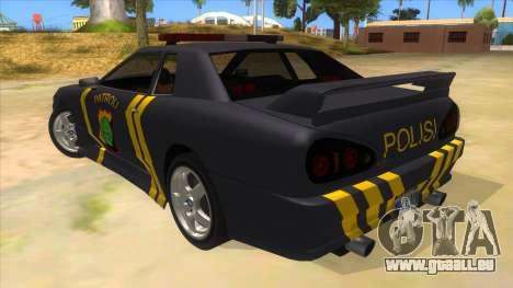 Elegy NR32 Police Edition Grey Patrol für GTA San Andreas zurück linke Ansicht