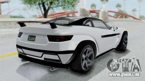 GTA 5 Coil Brawler Coupe für GTA San Andreas zurück linke Ansicht