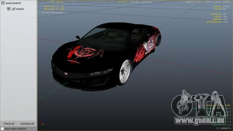 GTA 5 Touhou Project Remilia Jester droite vue latérale
