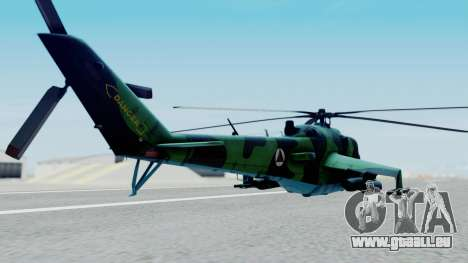 Mi-24V Afghan Air Force 112 für GTA San Andreas linke Ansicht