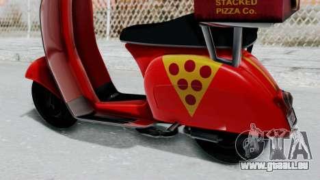 GTA 5 Pizza Boy pour GTA San Andreas vue de droite