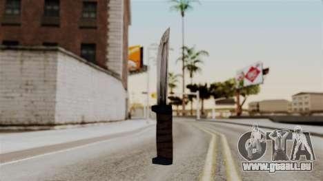 Batman Arkham City - Knife pour GTA San Andreas deuxième écran