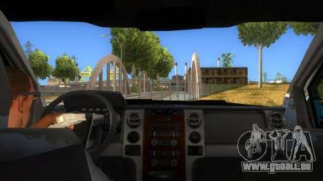Ford F-150 2015 für GTA San Andreas Innenansicht