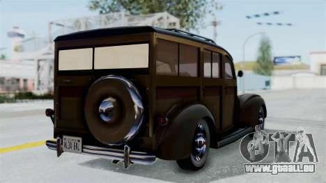 Lincoln Continental 1942 Mafia 2 v1 pour GTA San Andreas laissé vue