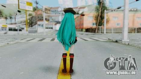 Hatsune Miku (Pirete) pour GTA San Andreas troisième écran