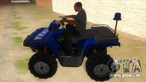 ATV Polaris Police für GTA San Andreas linke Ansicht
