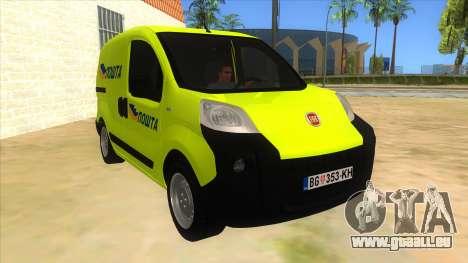 Fiat Fiorino für GTA San Andreas Rückansicht