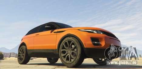 GTA 5 Range Rover Evoque 3.0 hinten links Seitenansicht