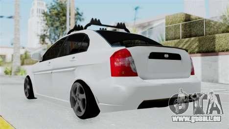 Hyundai Accent Essential Garage pour GTA San Andreas laissé vue