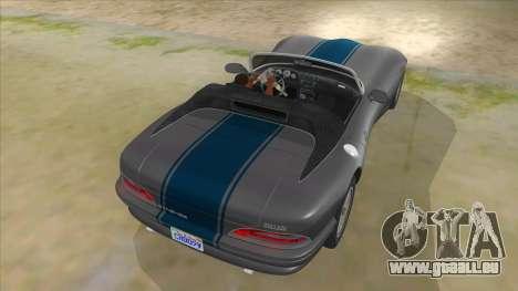 HD Banshee update pour GTA San Andreas vue de dessous