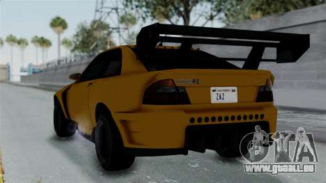 GTA 5 Karin Sultan RS Drift Big Spoiler PJ für GTA San Andreas linke Ansicht