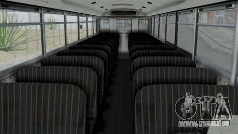 Bus from Life is Strange pour GTA San Andreas vue de droite