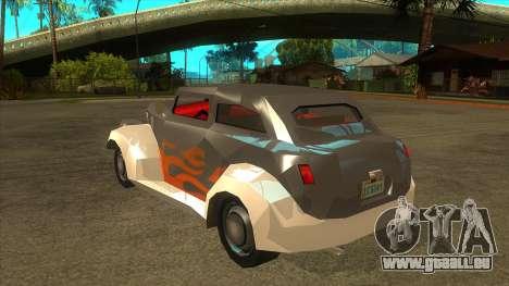 GTA LCS Thunder-Rodd pour GTA San Andreas sur la vue arrière gauche