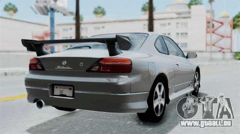 Nissan Silvia S15 Spec-R 2000 pour GTA San Andreas laissé vue