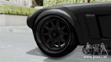 GTA 5 Mamba pour GTA San Andreas sur la vue arrière gauche