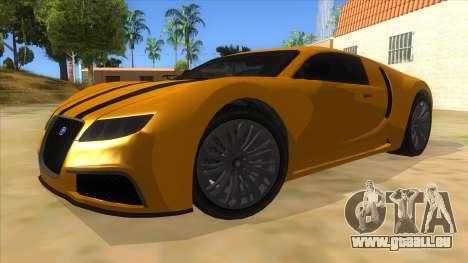 GTA 5 Truffade Adder pour GTA San Andreas vue arrière