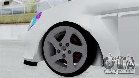 Hyundai Accent Essential Garage für GTA San Andreas zurück linke Ansicht