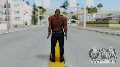 Marvel Heroes - Drax pour GTA San Andreas troisième écran