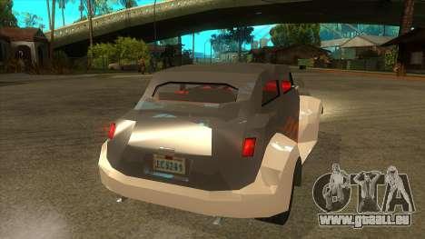 GTA LCS Thunder-Rodd pour GTA San Andreas vue de droite