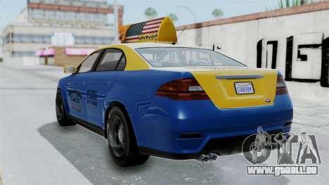 GTA 5 Vapid Stanier Ⅲ (Interceptor) Taxi für GTA San Andreas linke Ansicht