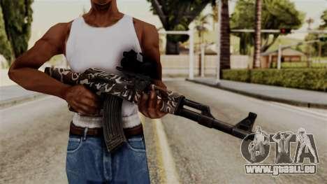 AK-47 F.C. Camo pour GTA San Andreas troisième écran