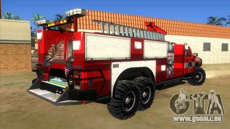 HUMMER H2 Firetruck pour GTA San Andreas vue de droite