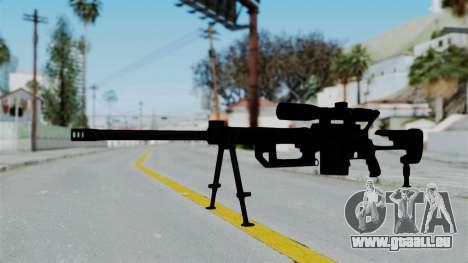 M2000 CheyTac Intervention pour GTA San Andreas deuxième écran