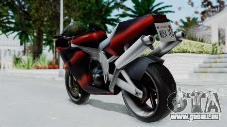 FCR-900 Custom pour GTA San Andreas laissé vue