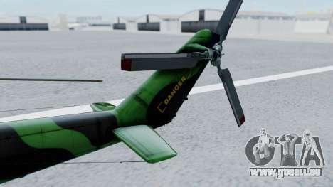 Mi-24V Afghan Air Force 112 für GTA San Andreas zurück linke Ansicht
