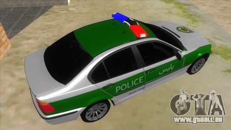 BMW Iranian Police pour GTA San Andreas vue de droite