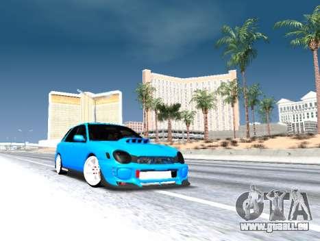Subaru Impreza WRX STi Wagon 2003 für GTA San Andreas obere Ansicht