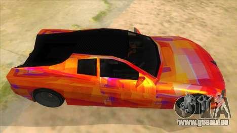 GTA 3 Cheetah ZTR für GTA San Andreas Innenansicht