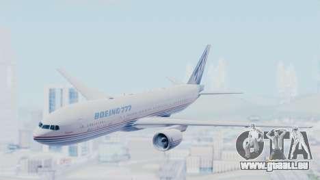 Boeing 777-200 Prototype pour GTA San Andreas sur la vue arrière gauche