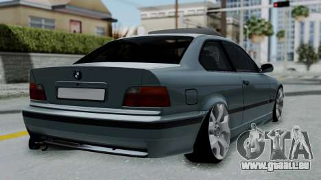 BMW 320 E36 Coupe pour GTA San Andreas laissé vue